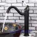 NEW oil rubbed bronze copper bathroom basin faucet hot & cold water mixer tap single ceramic handle hole black bronze faucet