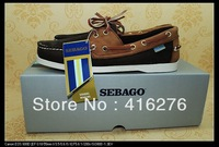 free shipping  boat shoes Coffee and brown handmade Nubuck leather first layer have stock fashion small pure fresh