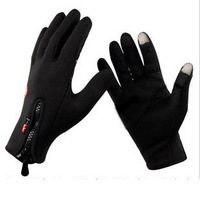 Promotions  Motorcycle Anti-slip Windproof winter Cycling Ski Bike Bicycle for iPhone 3g 4g 4s 5 touch screen gloves M