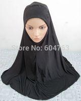 A024 new arrival plain black big muslim hijab free shipping