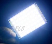 Free shipping 12V piranha super flux White Energy Saving Light Board 48 LED Piranha LED 5mm Piranha Light piranha led module
