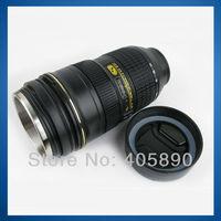 3pcs/lot Lens King AF-S 24-70mm f/2.8 ED 1:1 Coffee Cup Camera Lens Cup for Nikon Design Stainless Steel Liner