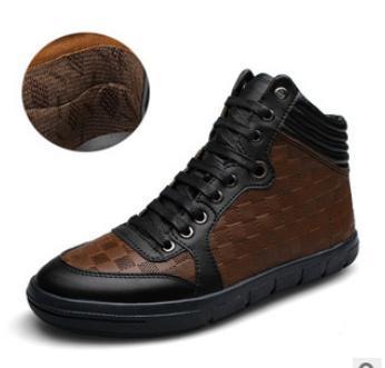 45 46 мужчины в высокая верхней шнуровка скейтбординг свободного покроя обувь вилочная часть зима тепловой натуральная кожа обувь bt196