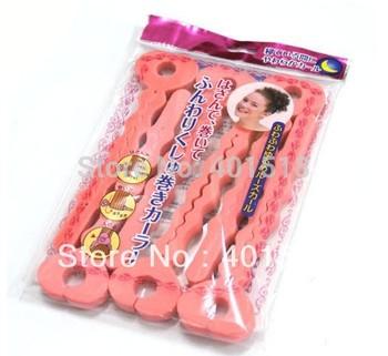 Magic Sponge hair stick  Hair Soft Strip Curler Roller Curling Hairdressing DIY Crimper Tool  Kinkiness Style 12pcs(6pcs/bag)