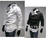 FREE SHIPPING fashion thicken men's hoodies men's jacket dust coat outwear 5 colors 5 sizes autumn winter jacket