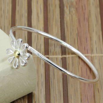 B111 fashion Jewelry 925 sterling silver Bracelet Bangle Cuff fashion bracelet for women Dichroic small daisy /amna jdua