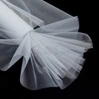 New  2014  25M x 29CM White Roll Soft Sheer DIY Organza Fabric Wedding Party Chair Sash Bows Swag Decor  Hot Sale