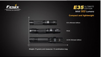 free shipping Fenix E35 Ultimate Edition Cree XM-L2 U2 LED 900lumens waterproof Flashlight by 18650 Battery Side Switch Torch
