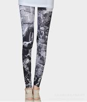 2013 New arrival sexy jeans Women's Fashion Print News paper Leggings Stretch Skinny Leg Pants Jeggings Cheap price  H93