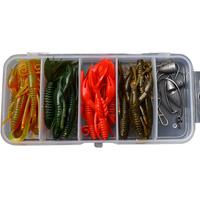 Free shipping, 27pcs/lot, soft bait set, lure set, hammer shrimp tyranids fishing lure set,