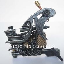 One Custom Pro Top Carbon Steel 10 Wrap Coils Tattoo Machine Gun Supply HTM67-A(China (Mainland))