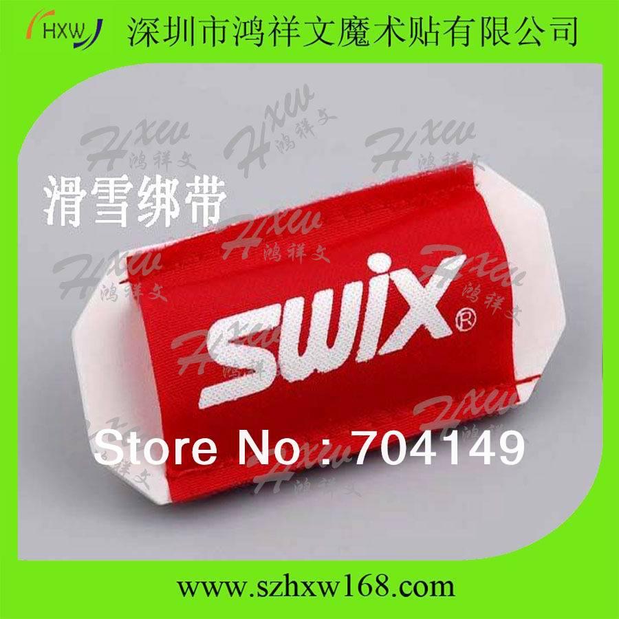 Envío gratis 55 X 135 mm Cross country Velcro manga de esquí con Pepsi desafío logo(China (Mainland))