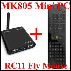 New!! MK805 Mini PC+RC11 Fly Mouse, HDMI Wifi RJ45, Allwinner A10 Android 4.0 Mini PC 1GB RAM + 4GB ROM Free Shipping!!(China (Mainland))