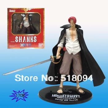 Free Shipping Japanese Anime Cartoon Two Years Later One Piece Action Figures PVC Tos Doll Model Collection red-haired Shanks