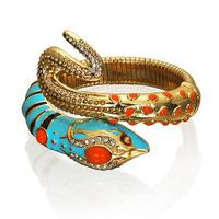 Anna dello russo  blue Snake Charm Bracelets full crystal for Women High Quality Christmas Gift Jewelry snake bracelet