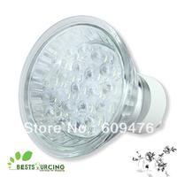 Free shipping 5pcs/lot Brand New High Bright 1.2W 80LM 21LED GU10 white LED light bulbs