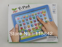 Free Shipping Y PAD Spaish Educational Toys For Baby,YPad With Music and Led Light,Pink and Blue 2 Colors Mixed,6 PCS/Lot