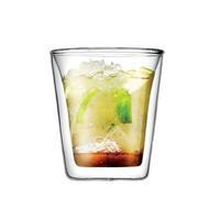 Bodum Canteen Double Wall Tumbler/DOF Glass coffee cup 100ml, Set of 2,Double Wall Shot/Espresso Glass mug ,Free shipping