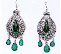 Fashion Hot Sale New Arrival National Bohemia Vintage Cutout Carved Drop Exaggerated Earrings E590