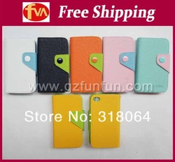 free shipping new arrival hot selling Korea mobx moz Hit color leather cover for iphone 4 cover 30pcs/lot(China (Mainland))