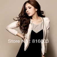 On sale On sale Free shipping apparel blazer autumn Gorgeous gold chain princess sleeve outerwear