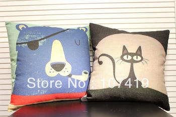 Customizable Linen Cotton Printing Cushion Cover Ikea home decor products design car sofa seat Throw Pillow Christmas Gift