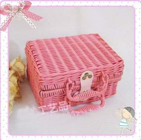 KINGART Sweet pink storage box jewelry box suitcase cosmetic box handbag evening bag