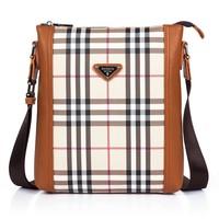 korean style Fashion Genuine Leather bag Urban shoulder bag 2013 new style Messenger Bags men sport D8010 Brown