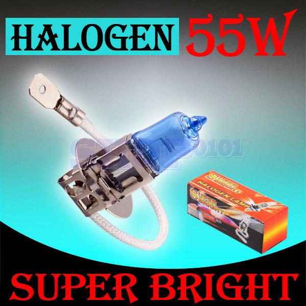 10 pcs h3 super bright white brouillard. 55w ampoule halogène lumière v10 12v phare de voiture