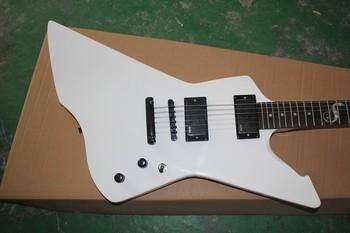 Free Shipping ESP Custom Shop Ebony Fretboard SNAKEBYTE James Hetfield White EMG 9V Active Pickups Electric Guitar Hot Guitar