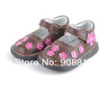 girls shoes genuine leather toddlers kids flowers mary jane flat sole 2013 New,sqeaky shoes squeaker