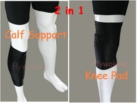 knee Pad/calf support,sport calf Guard protector Shock Doctor,Combat Padded Stretch spandex leg Sleeve For Basketball football,B