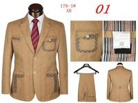 New 2014 Top Design Mens Suits With Pants  For Men Lattice Suit (Coat + Pants) Size S M L XL XXL XXXL Free Shipping