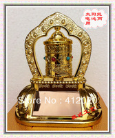 tibetan prayer wheel,Auspicious Prayer Wheel with perfume,use both battery &solar light,free shipping
