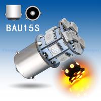 4pcs  1156 BAU15S 13 SMD 5050 Amber / Yellow py21w Turn Signal 13 LED Car Light Lamp Bulb parking car source External Lights