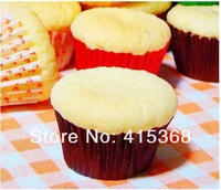 Free shpping! 5000pcs 86mm Round DIY Baking Oilpaper Case/Liner/Stand, 5Solid Colors for Cupcake/Dessert/Muffin/Chocolate