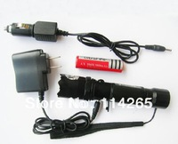 5W LED CREE Q5 AC Adaptor charger +Car adaptor charger+ battery LED Flashlight 3 modes fedex dhl ship