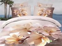 Elegant 3d red rose bedding sets queen size 4pcs floral print bedclothes bedlinen quilt/duvet cover bed sheet set cotton