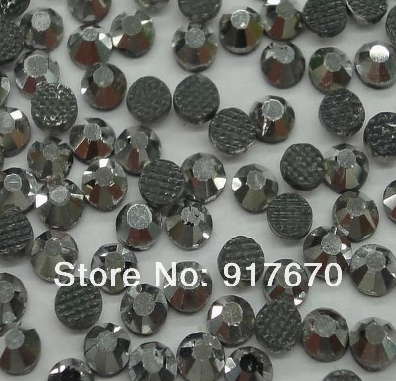 Hotfix DMC rhinestone 1440pcs /bag SS10 Hematite diamante, iron on transfers strass stone for clothes(China (Mainland))