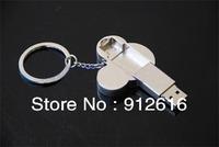 Free Shipping / Creative u disk 16G, Gift USB flash drives, Mickey head U disk rotating stainless steel    U013
