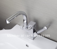 Hot Sell ! 360 degree Swivel Kitchen Faucet Pull Out Polished Chrome Basin Mixer Brass Tap tige1