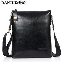 2014 Fashion genuine leather shoulder bag diagonal Vintage men's business bag casual briefcase famous brand men messenger bags