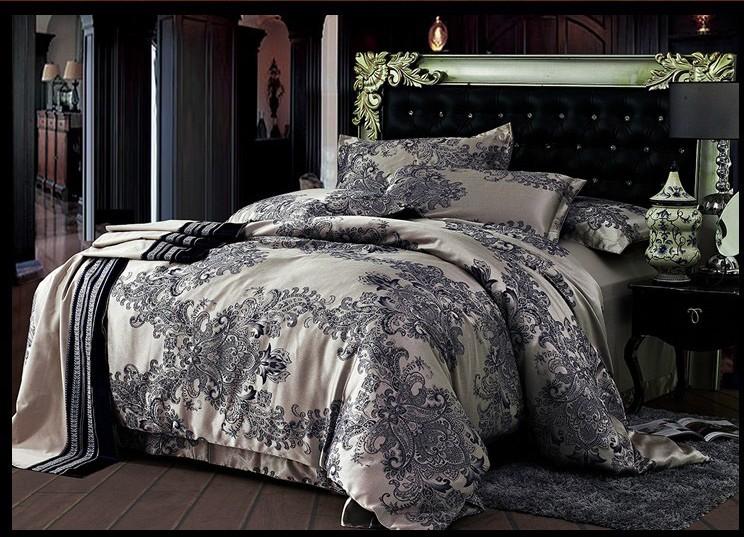 Jacquard Satin Cotton Silk Bedding Bedding Set Quilt Duvet