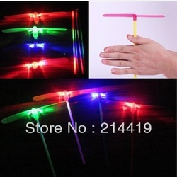 Hot selling Kids Toys LED Light Dragonfly Flying Rotor Flash Toy Children Gifts Free Shipping(China (Mainland))