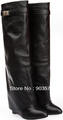genuine leather, women knee high boots