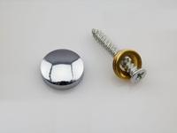 50Pcs Brass Advertisement Fixing Screws Glass Standoff Pin(D:14mm)