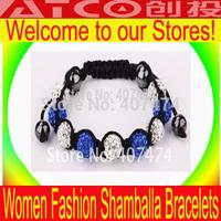 Shamballa jewelry Wholesale, free shipping, New Shamballa Bracelet Micro Pave CZ Disco Ball Bead,Shamballa Bracelet