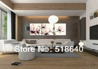 3 Panel Canvas Painting Home Decoration White Flowers Printed Wall Picture Hanging Craft Gift Pt34