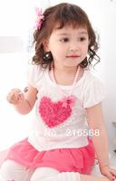 wholesale  size100 110 120 130 140 children's skirt tutu dress baby girl dress kids wear flower Princess T-shirt kids clothing