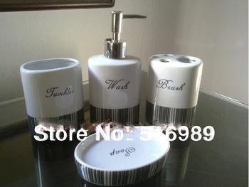 Free Shipping modern special designed NEW Brand Ceramic 4pcs bathroom accessory set  A-195